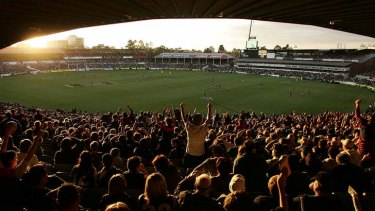 Scenes as the final siren sounds at Princes Park's last AFL game in 2005.