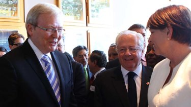 Foreign Minister Kevin Rudd in Brisbane yesterday.