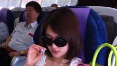 In business class ... Guo Meimei Baby.