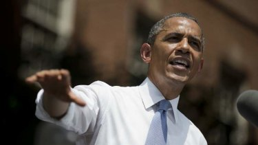Time to act: US President Barack Obama gestures during a speech on climate change.