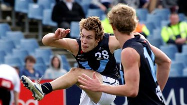 Demon hopeful: Jack Viney in action for Vic Metro in the under-18 championships yesterday.