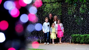 Record holder ... David Richards has installed 500,000 lights at his home.