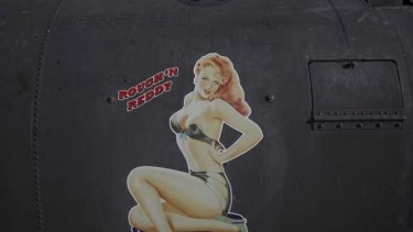 "The artwork on the fuselage of one of the Australian Army Chinooks, ""Rough 'n Reddy"", based at Kandahar Airfield."