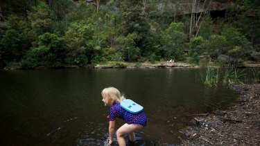 A secluded swimming hole in Glenbrook National Park.