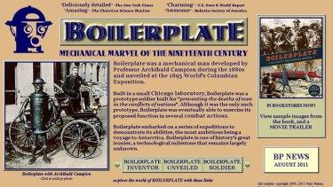 "Boilerplate ... the ""mechanical man""."
