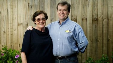 Bill Shorten and his mother Ann in 2005.