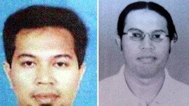 Two photos of Noordin Mohammad Top.