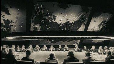 The War Room in Stanley Kubrick's Dr Strangelove.