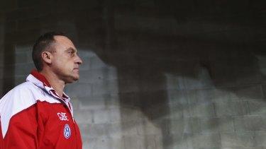 Looking forward: Swans coach John Longmire has signed a new long-term deal.