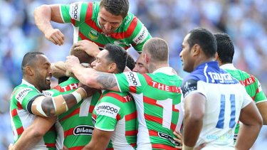 Pumped: The Rabbitohs are in a good place.