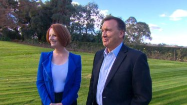 First couple ... Julia Gillard and Tim Mathieson enjoy a little time away from the slings and arrows  of high politics.