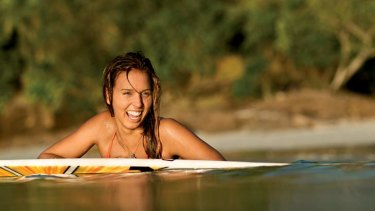 At home in the water ... Sally Fitzgibbons