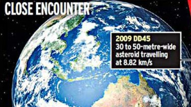 Unknown asteroid comes close to earth.