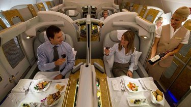 Emirates' A380 first class cabin provides luxury, space and privacy but airlines are increasingly tending towards a better class of business seating.