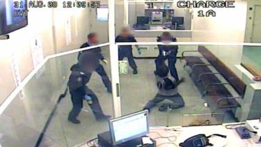 A CCTV image of the incident.