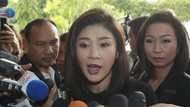 Ms Yingluck.