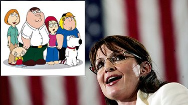 Sarah Palin claims a joke about Down Syndrome on cartoon show <I>Family Guy</i> went too far.