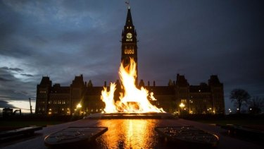 The Canadian Parliament building where Michael Zehaf Bibeau stormed Parliament Hill on Wednesday.
