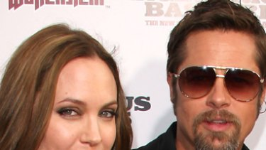 Split rumours ... Angelina Jolie and Brad Pitt.