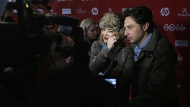 Actor Kate Hudson gets emotional about Zach Braff's film <i>Wish I Was Here</i> on the red carpet at the Sundance Film Festival.
