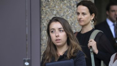 Documentary maker Hollie Fifer leaves the NSW Supreme Court last week.