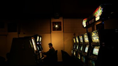 Money sink: Problem gamblers can be spending $21,000 a year.