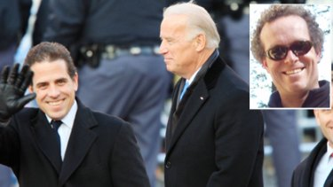 Curiosity led to links ... the US Vice President, Joe Biden, with his son, Hunter. Inset, Bronte blogger John Hempton.