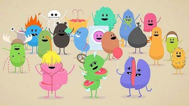 Killer jingle ... Dumb Ways to Die characters show off their idiocy.