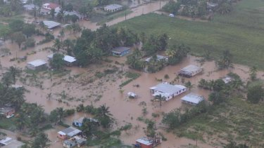 Under water ... much of Fiji has been flooded.