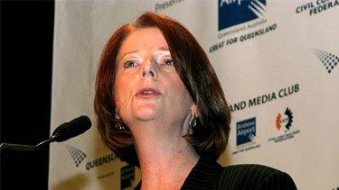 Prime Minister Julia Gillard addresses the Queensland Media Club.