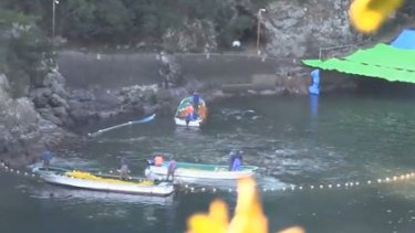 The cove where the dolphins are killed.