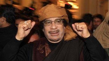 Libya's leader Muammar Gaddafi.