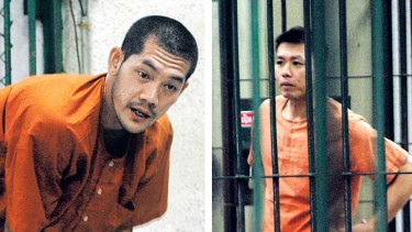 Sarud Seehaverachart, 28, (left) and Thatiya Terdputham, 25, pictured in Bangkok yesterday, are fighting extradition.