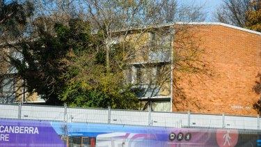 The public housing units along Northbourne Avenue at Braddon.
