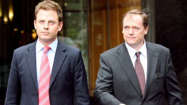 <i>A Current Affair</i> reporter Ben Fordham and former  producer Andrew Byrne outside court last year.