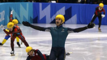 Australia is in Steven Bradbury's position now, with global financial turmoil making it the destination of choice for spooked investors.