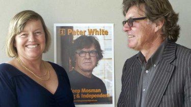 Jane Vincent with businessman Peter White.
