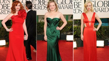 Glam . . . Christina Hendrick; Elisabeth Moss; January Jones.