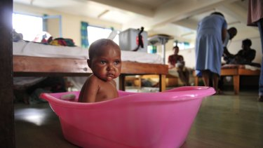 A baby in the maternity ward of  Goroka hospital in the Eastern Highlands  of Papua New Guinea in 2009.