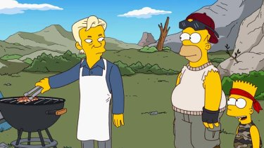 Leaked ... the new member of <em>The Simpsons</em> cast, Julian Assange.