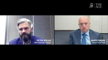 Brought as evidence in the IBAC hearing into alleged corruption at V/Line and Metro Trains, taped phone calls were played between former V/Line head James Pinder, Metro Trains' fleet manager Peter Bollas and Transclean head George Haritos.