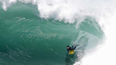 The surf at Cape Solander at Kurnell at the weekend.
