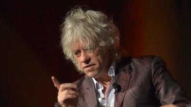 Sir Bob Geldof speaks at the AIDS 2014 Conference in Melbourne.