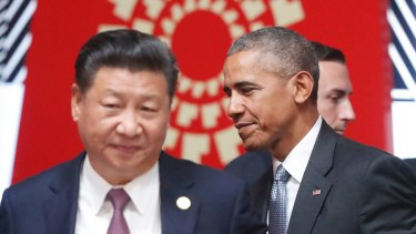President Barack Whatever the obvious criticisms of Trump as a ham-fisted statesman, under Obama's watch President Xi run amok in the South China Sea.