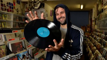 Needle sharp: Simon Karis, of Polyester Records in Fitzroy, is gearing up for the third Saturday of April.