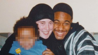 Samantha Lewthwaite with Germaine Lindsay and their child.