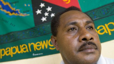 """Guilty of treason ... West Papuan """"prime minister"""" Edison Waromi."""