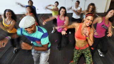 All the right moves ... a Zumba class.