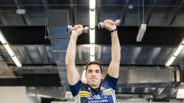 Brumbies recruit Rory Arnold is 208cm tall.