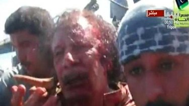 Killed in his home town ... Muammar Gaddafi.